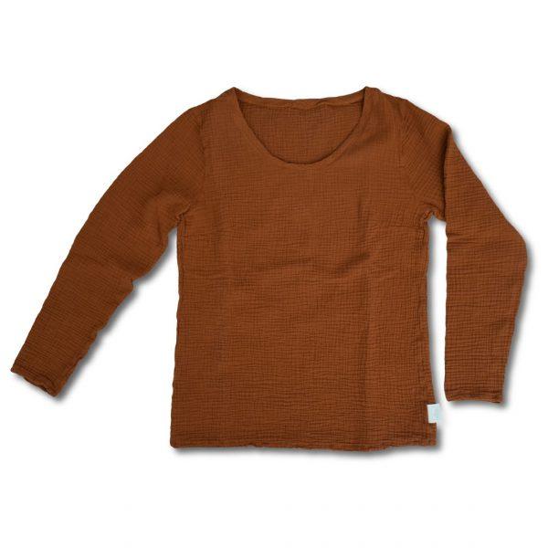 Hnedé tričko s dlhým rukávom