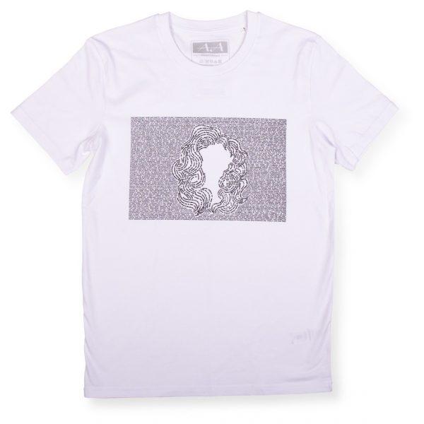 Biele tričko s potlačou a krátkym rukávom