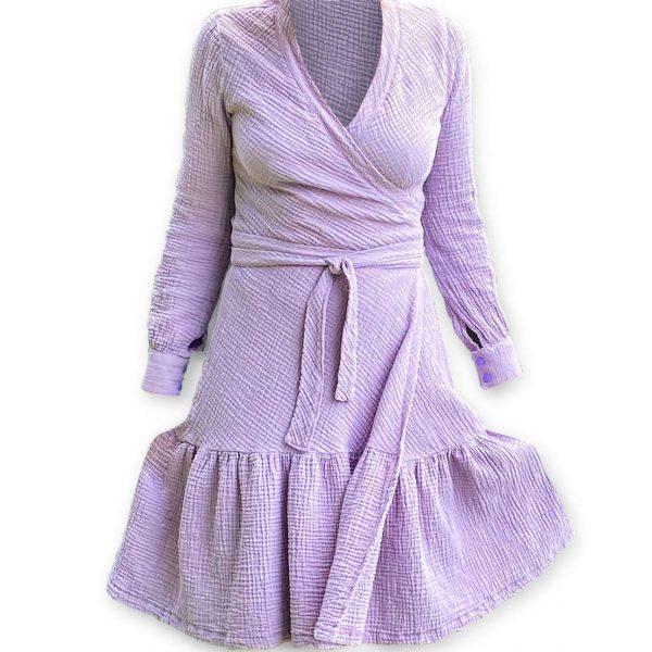 Odfotený produkt Zavinovacie mušelínové šaty Love Colors
