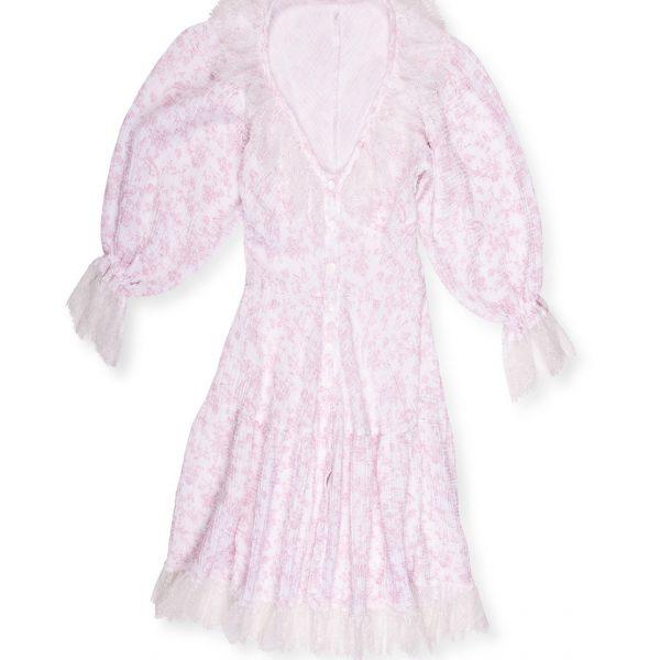 Odfotený produkt - Mušelínové šaty s francúzskou čipkou Love Colors