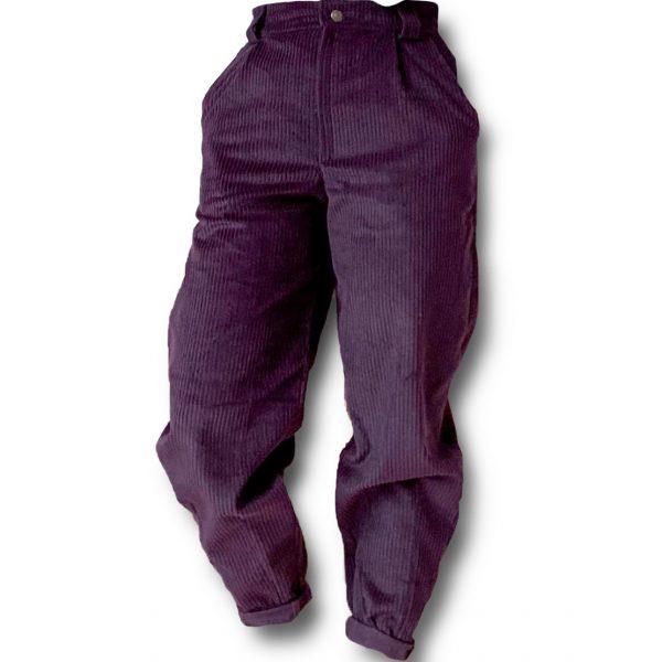 Odfotený produkt Menčestrové nohavice s vysokým pásom Love Colors