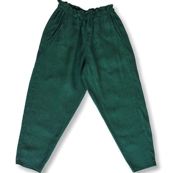 Zelené nohavice miljo na gumičku