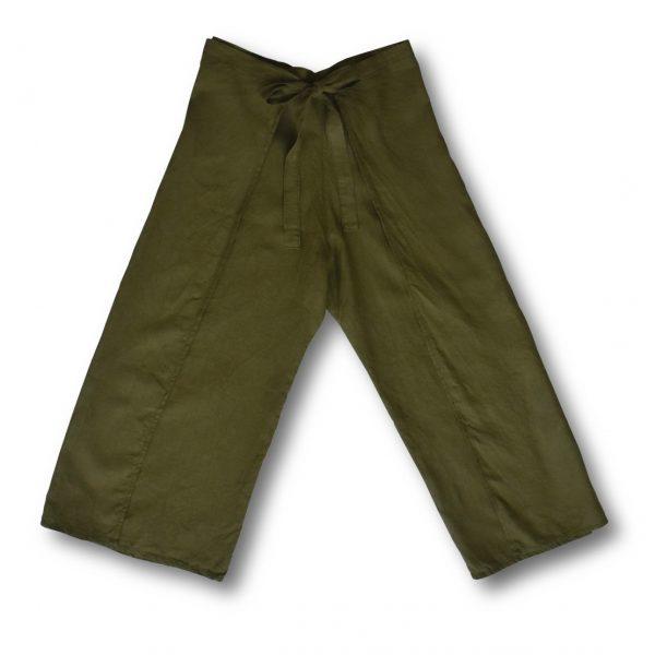 Zelené zavinovacie nohavice miljö