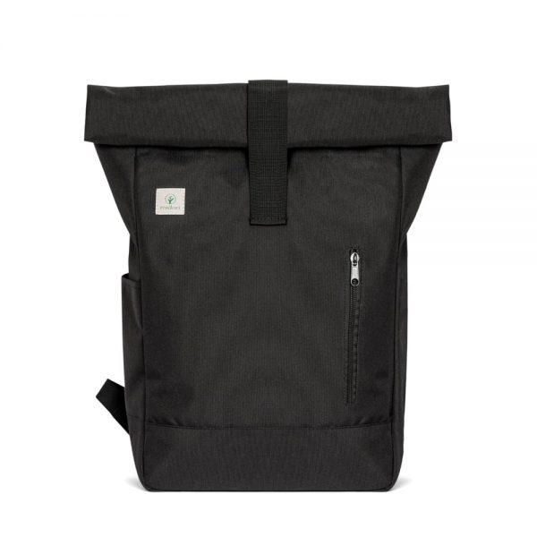Čierny batoh midori z recyklovaného PET a bavlny