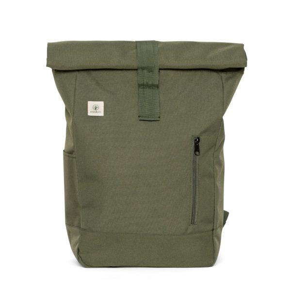 Zelený rolovaci batoh midori z recyklovaného PET a bavlny