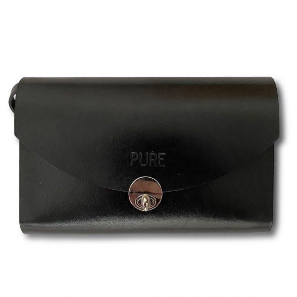 Detail čierna multifuknčná kabelka PURE