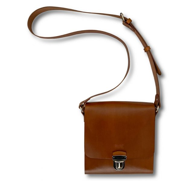 Hnedá pánska kožená taška PURE