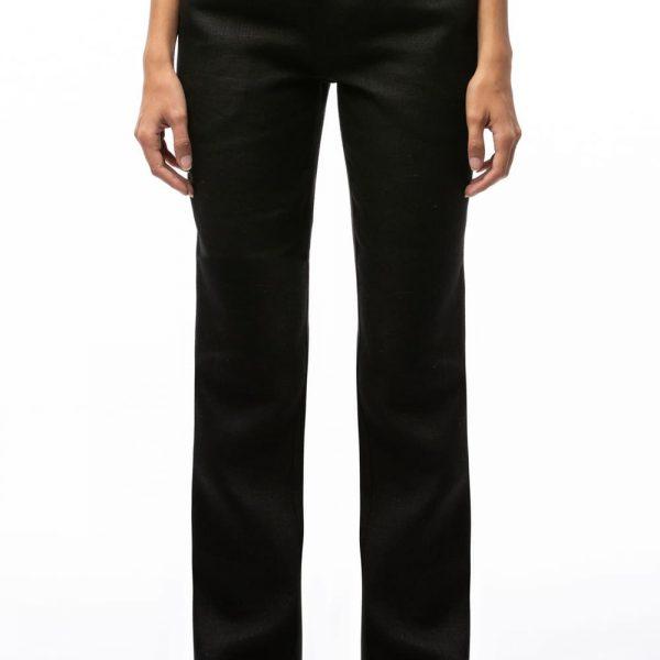 Dlhé čierne nohavice pre ženy z konope objednáte