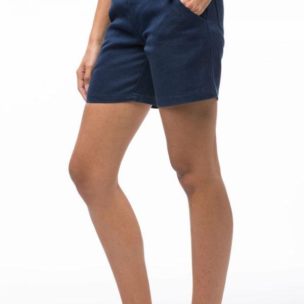 Dámske konopené kraťasy modrej farby štýlu riflové kraťasy objednáte na SLOVFLOW