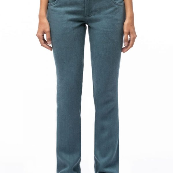 Bedrové nohavice modré z prírodného konope objednáte online na SLOVFLOW
