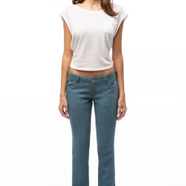 Bedrové dlhé dámske nohavice z konope objednáte online na SLOVFLOW