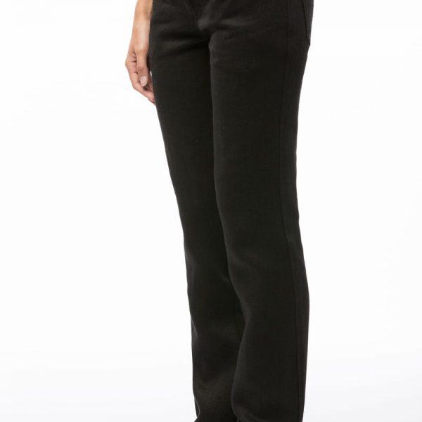 Čierne dámske nohavice vyrobené na mieru z konope objednáte online na SLOVFLOW