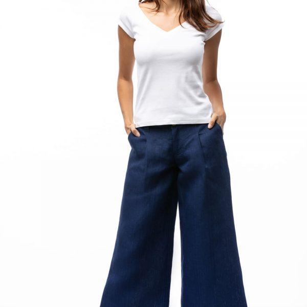 Dlhé cullotes nohavice z konope pre ženy objednáte online na SLOVFLOW