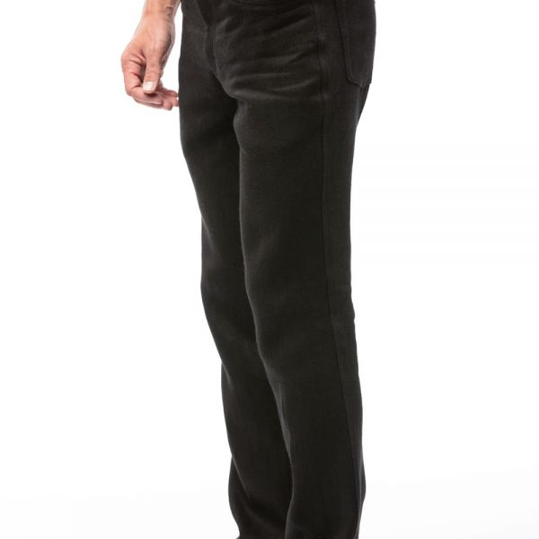 Čierne nohavice pánske s vreckami z konope objednáte na SLOVFLOW