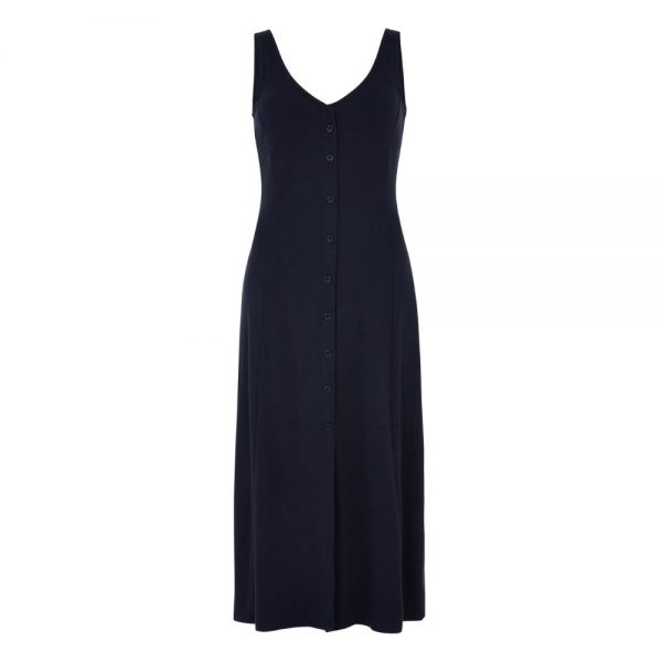 Dlhé modré šaty z certifikovanej bavlny bez rukávov objednáte online na SLOVFLOW