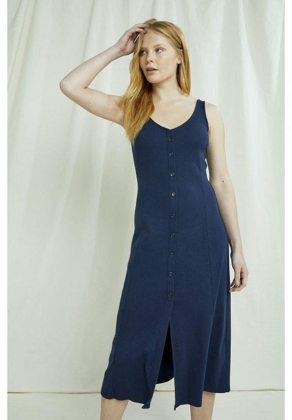 Certifikované bavlne modré šaty na gombíky objednáte na SLOVFLOW