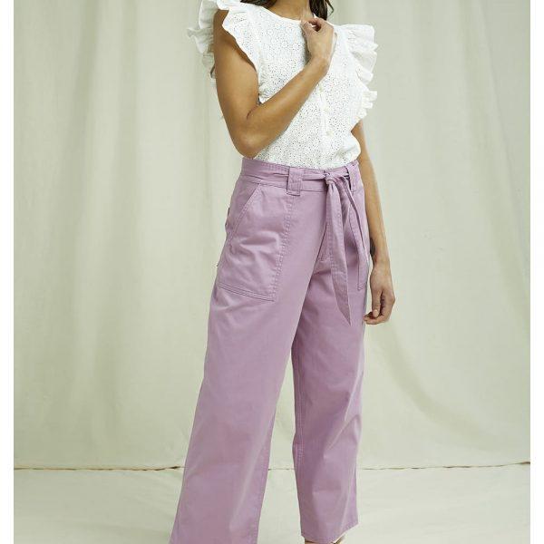Ružové letné nohavice z GOTS bavlny objednáte na SLOVFLOW