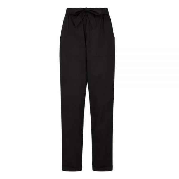 Čierne dámske dlhé nohavice z certifikovanej GOTS bavlny