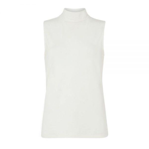 Biely top bez rukávov certifikovaná GOTS bavlna