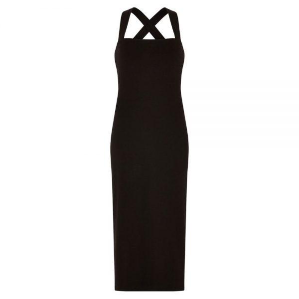 Čierne šaty s prekríženými ramienkami od udržateľnej značky People Tree