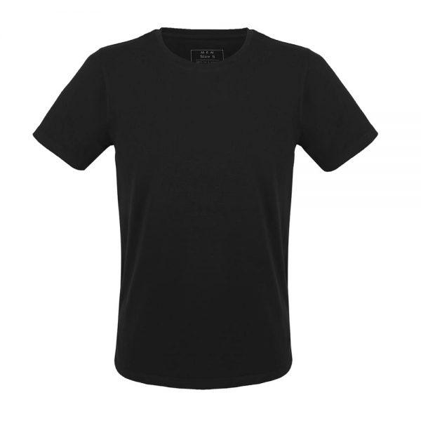 Čierne tričko pre mužov z organickej bavlny