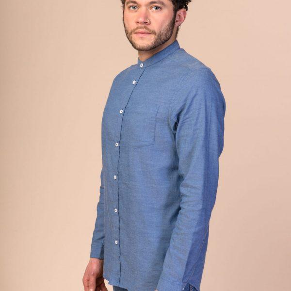 Modrá pánska košeľa z organickej bavlny
