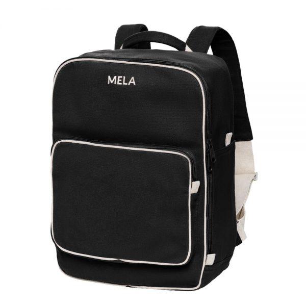 Čierny ruksak z organickej a fairtrade bavlny od značky Melawear objednáte na SLOVFLOW