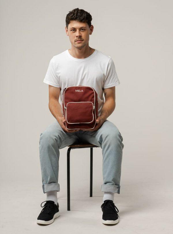 Pánsky bordový mini ruksak z fairtrade bavlny objednáte na SLOVFLOW
