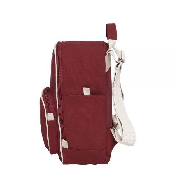 Malý ruksak bordovej farby z organickej bavlny objednáte na SLOVFLOW