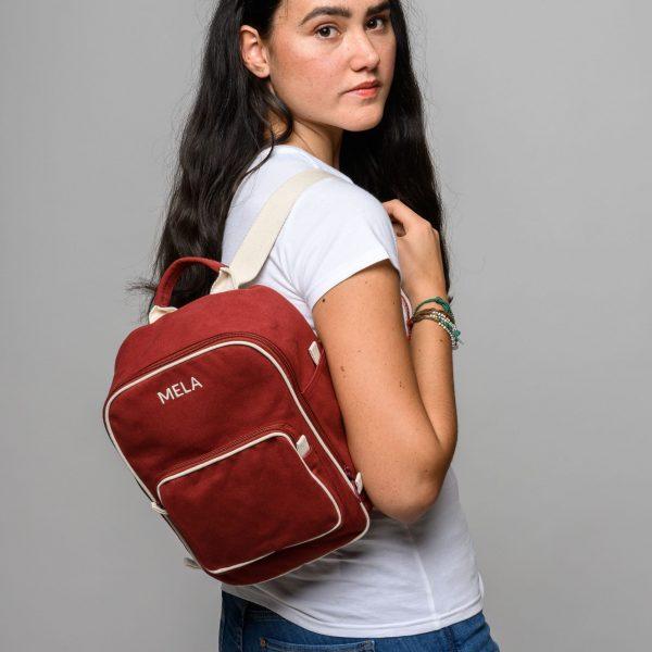 Malý ruksak z organickej bavlny pre ženy objednáte na SLOVFLOW