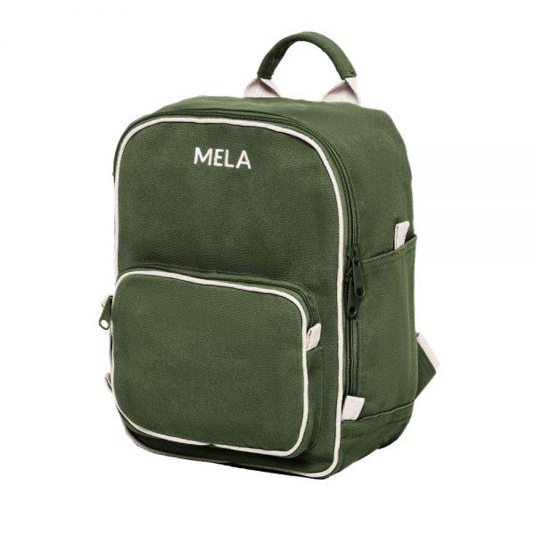 Malý zelený ruksak pre deti z organickej bavlny objednáte na SLOVFLOW