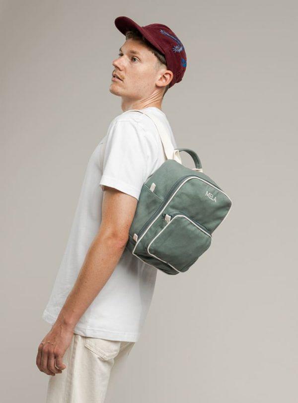Malý ruksak pre mužov z oraganickej bavlny