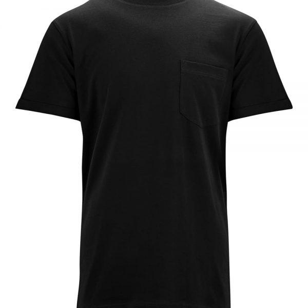 Čierne tričko s krátkymi rukávmi od Melawear