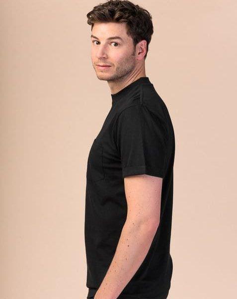 Pánske čierne tričko z organickej bavlny objednáte online na SLOVFLOW